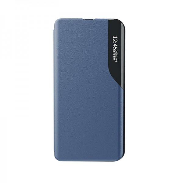 Husa Tip Carte Upzz Eco Book Compatibila Cu Huawei P40 Pro, Piele Ecologica - Albastru imagine itelmobile.ro 2021