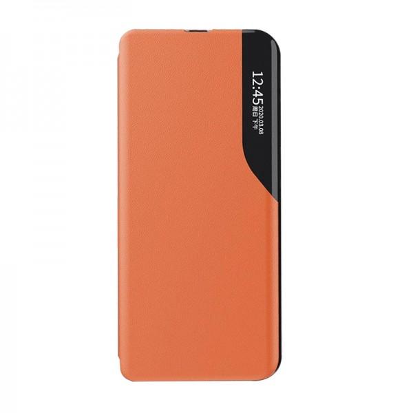 Husa Tip Carte Upzz Eco Book Compatibila Cu Huawei P40 Lite, Piele Ecologica - Orange imagine itelmobile.ro 2021