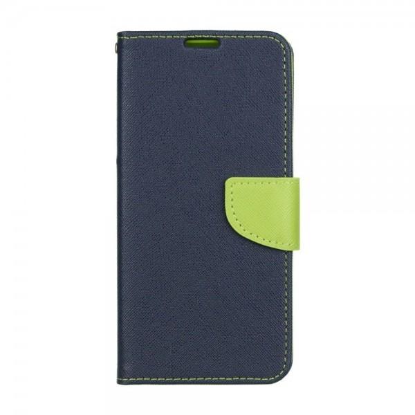 Husa Flip Carte Fancy Book Huawei P Smart 2021, Albastru Verde imagine itelmobile.ro 2021