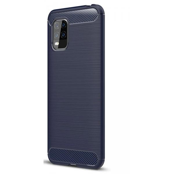 Husa Spate Upzz Carbon Pro Xiaomi Mi 10 Lite, Albastru imagine itelmobile.ro 2021