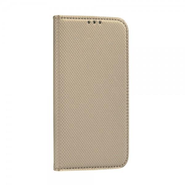 Husa Flip Cover Upzz Smart Book Pentru Huawei P Smart 2021, Gold imagine itelmobile.ro 2021