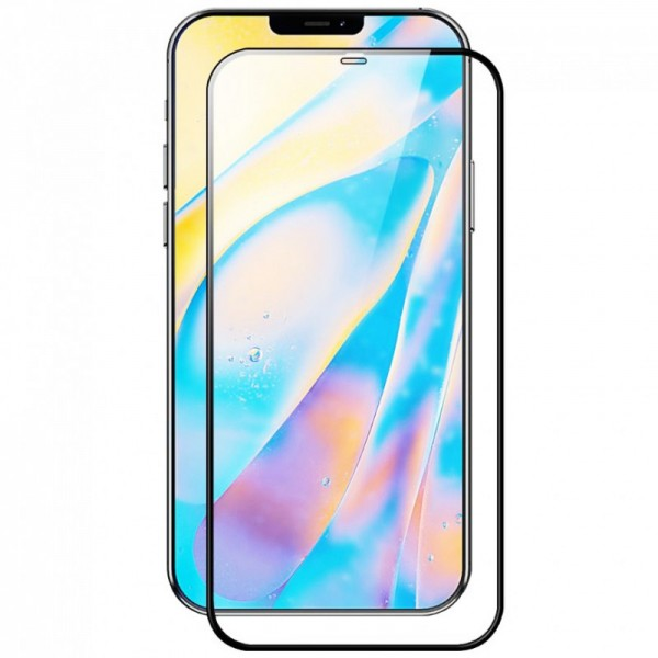 Folie Protectie Ecran Hybrid Upzz Ceramic Full Glue Pentru iPhone 12 Pro Max, Transparenta Cu Margine Neagra imagine itelmobile.ro 2021