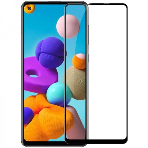 Folie Protectie Ecran Hybrid Upzz Ceramic Full Glue Pentru Samsung Galaxy A21s, Transparenta Cu Margine Neagra imagine itelmobile.ro 2021