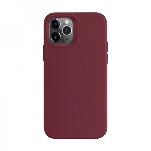 Husa Premium Esr Cloud Antishock iPhone 12 / iPhone 12 Pro, Red Wine imagine itelmobile.ro 2021