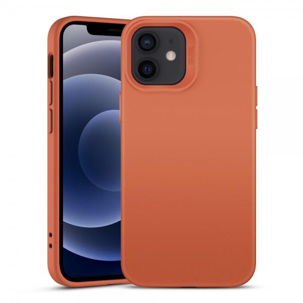 Husa Premium Esr Cloud Antishock iPhone 12 Mini, Orange imagine itelmobile.ro 2021
