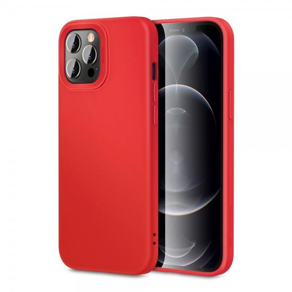 Husa Premium Esr Cloud Antishock iPhone 12 Pro Max, Rosu imagine itelmobile.ro 2021