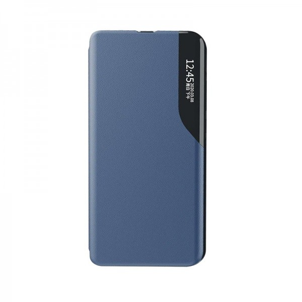 Husa Tip Carte Upzz Eco Book Compatibila Cu Xiaomi Redmi Note 8 Pro, Piele Ecologica - Albastru imagine itelmobile.ro 2021