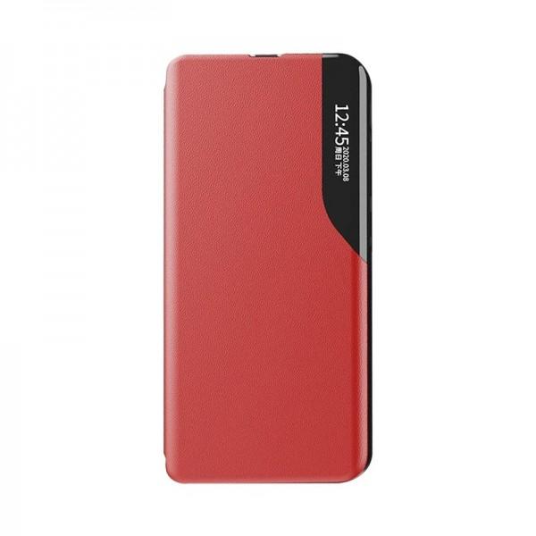 Husa Tip Carte Upzz Eco Book Compatibila Cu Xiaomi Redmi 9a, Piele Ecologica - Rosu imagine itelmobile.ro 2021