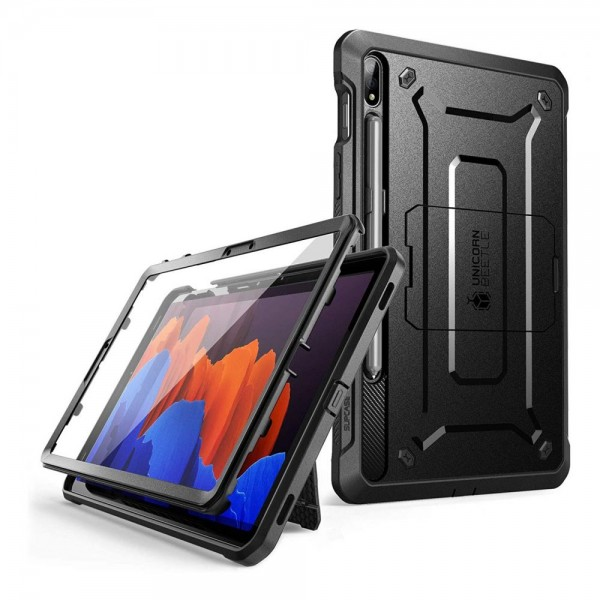 Husa Premium Originala Supcase Unicorn Beetle Pro Samsung Galaxy Tab S7+ Plus 12,4inch, Model T970 / T976, Negru imagine itelmobile.ro 2021