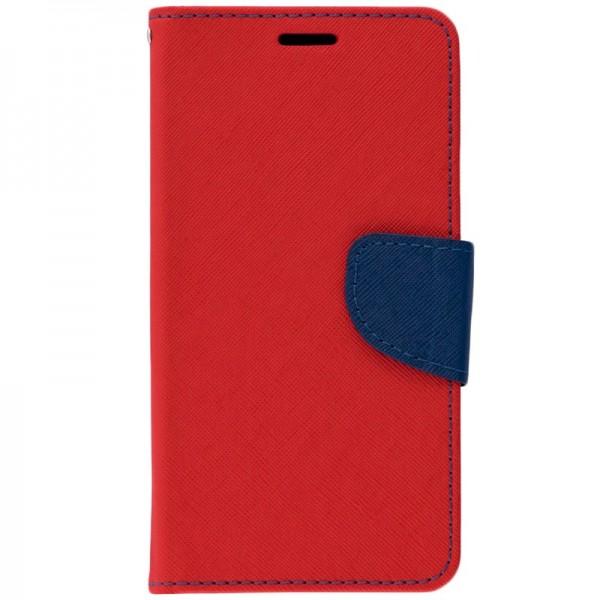 Husa Flip Carte Fancy Book Huawei P Smart 2021, Rosu imagine itelmobile.ro 2021