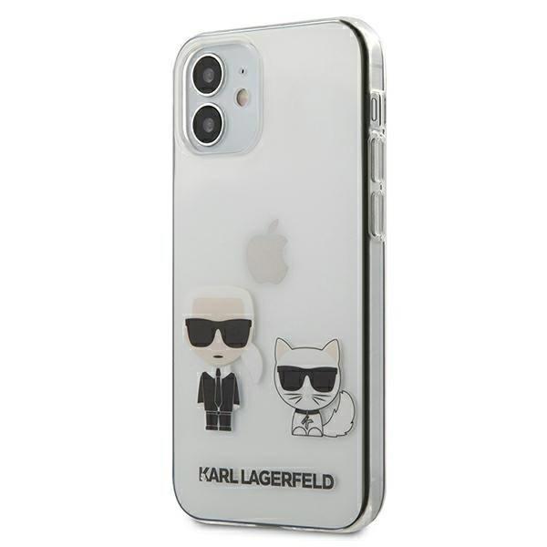 Husa Premium Karl Lagerfeld iPhone 12 Mini, Transparent Karl & Choupette - Klhcp12scktr imagine itelmobile.ro 2021