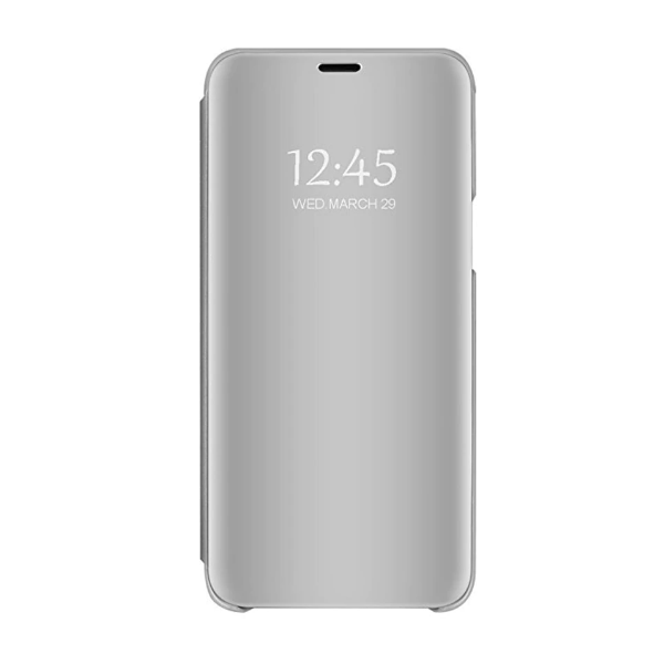 Husa Tip Carte S View Mirror Samsung Galaxy A42 5g, Silver imagine itelmobile.ro 2021