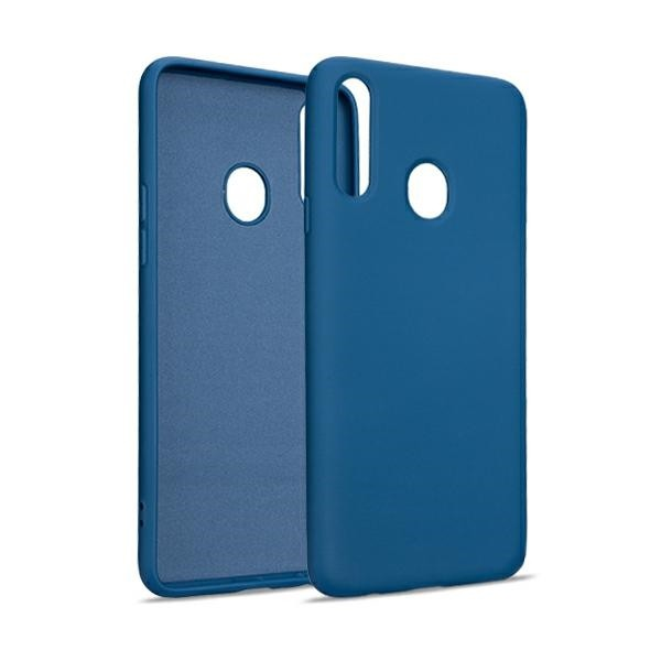Husa Premium Upzz Liquid Silicon Pentru Samsung Galaxy A20s, Cu Invelis Alcantara La Interior , Albastru imagine itelmobile.ro 2021