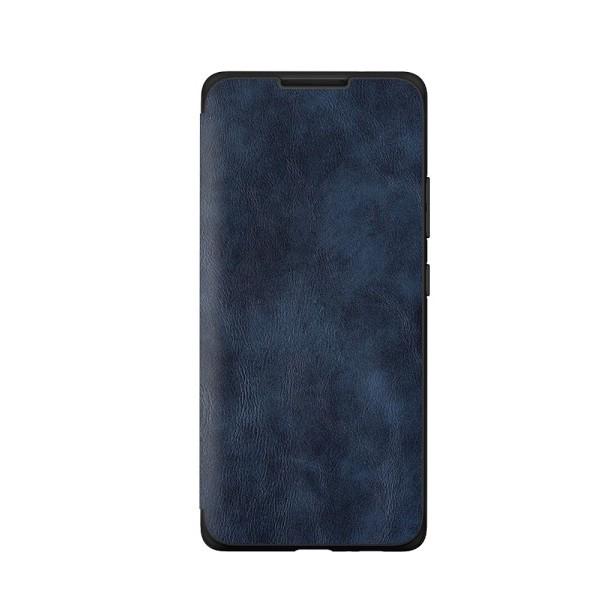 Husa Premium Flip Book Upzz Leather Samsung Galaxy A20s, Piele Ecologica, Albastru imagine itelmobile.ro 2021