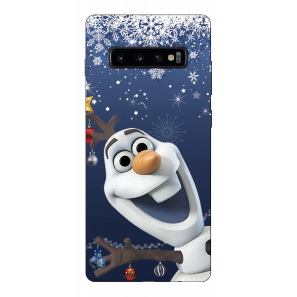 Husa Silicon Soft Upzz Print X-mass Samsung S10+ Plus Model Craciun 8 imagine itelmobile.ro 2021