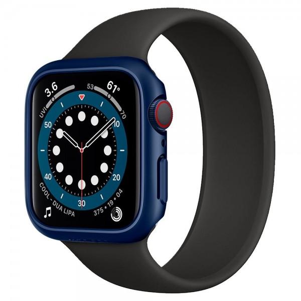 Carcasa Spigen Liquid Thin Fit Compatibila Cu Apple Watch 4/5/6/se (40mm), Albastru Metalic imagine itelmobile.ro 2021