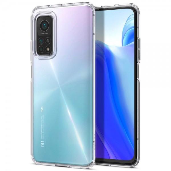 Husa Premium Spigen Liquid Crystal Xiaomi Mi 10t / Mi 10t Pro, Transparenta imagine itelmobile.ro 2021