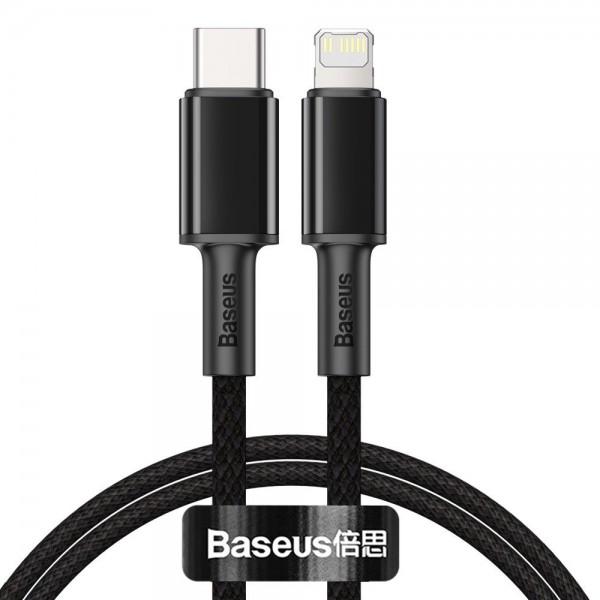 Cablu Date Premium Baseus Power Delivery 20w, Type-c La Lightning, 2m Lungime, Textil, Negru- Catlgd-a01 imagine itelmobile.ro 2021