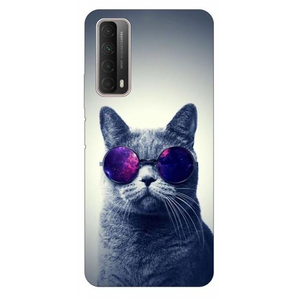 Husa Silicon Soft Upzz Print Huawei P Smart 2021 Model Cool Cat imagine itelmobile.ro 2021