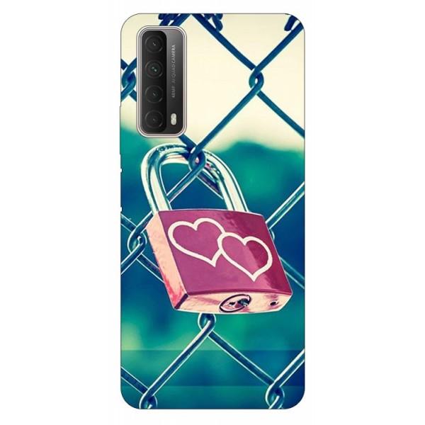 Husa Silicon Soft Upzz Print Huawei P Smart 2021 Model Heart Lock imagine itelmobile.ro 2021