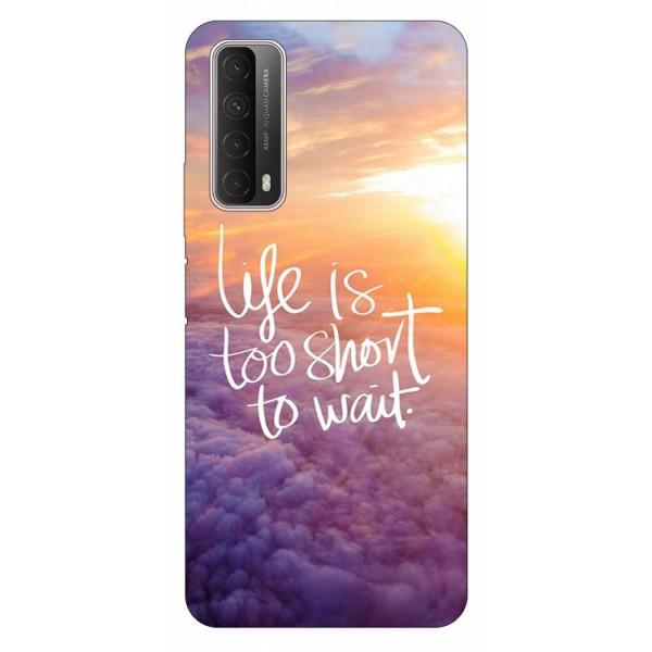 Husa Silicon Soft Upzz Print Huawei P Smart 2021 Model Life imagine itelmobile.ro 2021