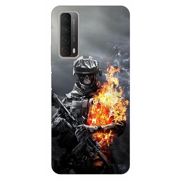 Husa Silicon Soft Upzz Print Huawei P Smart 2021 Model Soldier imagine itelmobile.ro 2021