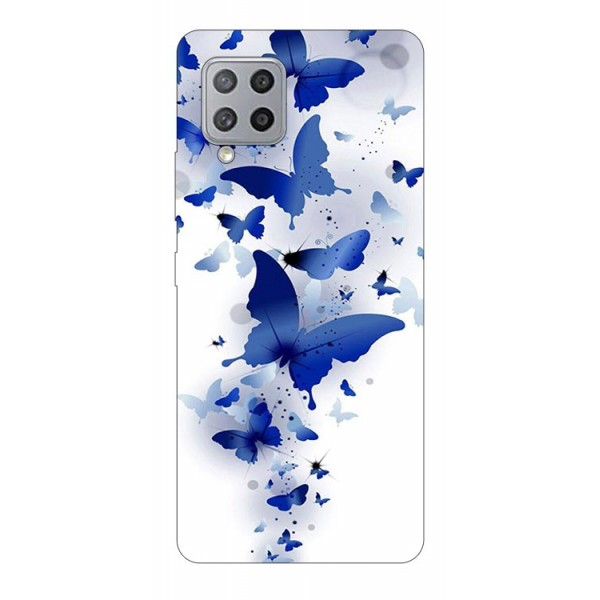 Husa Silicon Soft Upzz Print Samsung Galaxy A42 5g Model Blue Butterflies imagine itelmobile.ro 2021