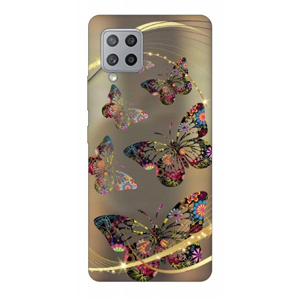 Husa Silicon Soft Upzz Print Samsung Galaxy A42 5g Model Golden Butterfly imagine itelmobile.ro 2021