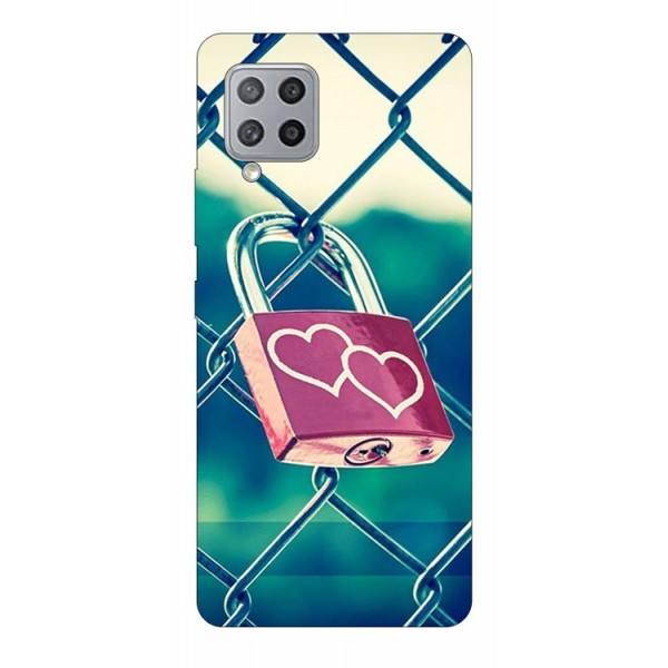 Husa Silicon Soft Upzz Print Samsung Galaxy A42 5g Model Heart Lock imagine itelmobile.ro 2021