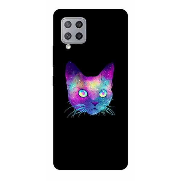 Husa Silicon Soft Upzz Print Samsung Galaxy A42 5g Model Neon Cat imagine itelmobile.ro 2021