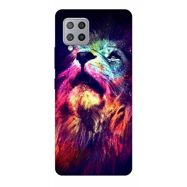 Husa Silicon Soft Upzz Print Samsung Galaxy A42 5g Model Neon Lion imagine itelmobile.ro 2021