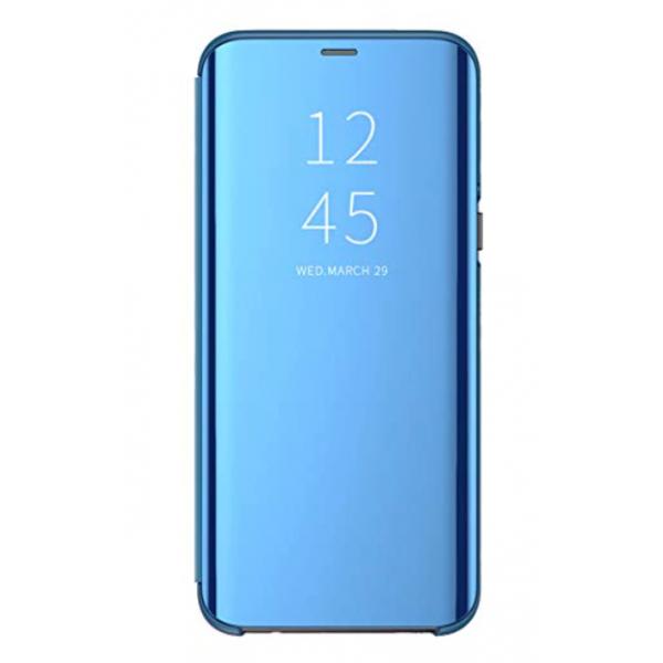 Husa Tip Carte Mirror Samsung Galaxy M31s, Albastru Cu Folie Sticla Upzz Glass Inclusa In Pachet imagine itelmobile.ro 2021
