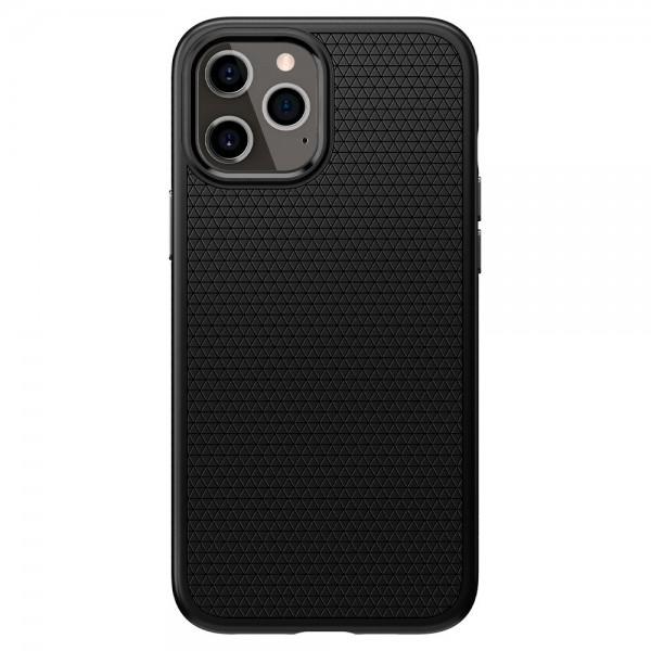 Husa Premium Originala Spigen Liquid Air iPhone 12 Pro Max Negru Silicon imagine itelmobile.ro 2021