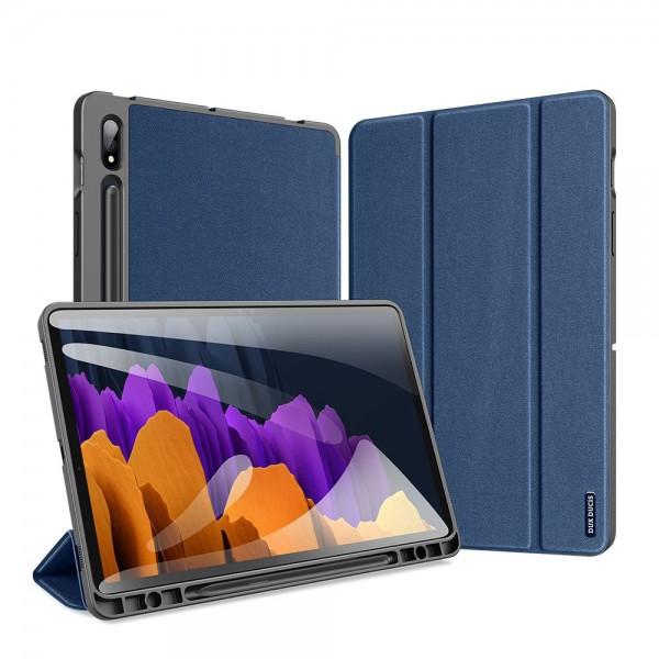 Husa Tableta Duxducis Domo Smartcase Samsung Galaxy Tab S7+ Plus 12.4inch, T970 / T 976 ,albastru imagine itelmobile.ro 2021