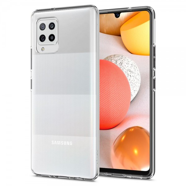 Husa Premium Spigen Liquid Crystal Samsung Galaxy A42 5g, Silicon, Transparenta imagine itelmobile.ro 2021