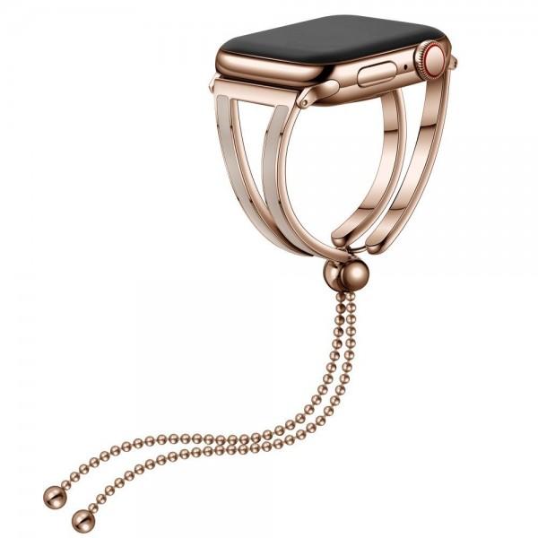 Curea Apple Watch, Tech Protect Chainband, Compatibila Cu Apple Watch 2/3/4/5/6/se (38/40mm), Gold imagine itelmobile.ro 2021