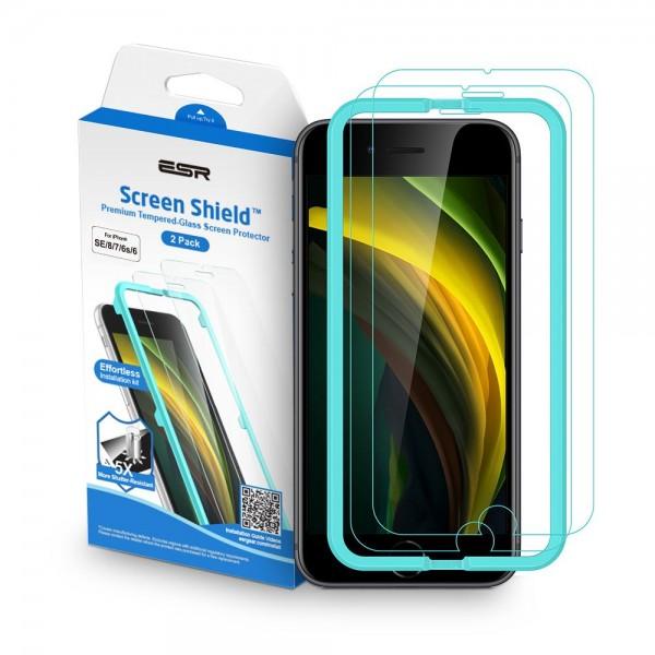 Folie Full Glue Premium Esr Shield Pentru iPhone 7 / 8 / Se 2 ( 2020 ) , Transparenta, 2 Buc Pachet imagine itelmobile.ro 2021