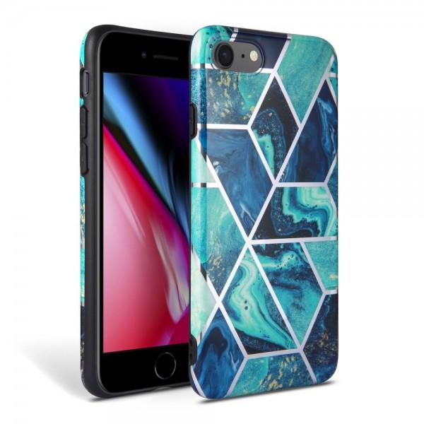 Husa Spate Premium Upzz Tech iPhone Se 2 ( 2020 ) Marble Albastru imagine itelmobile.ro 2021