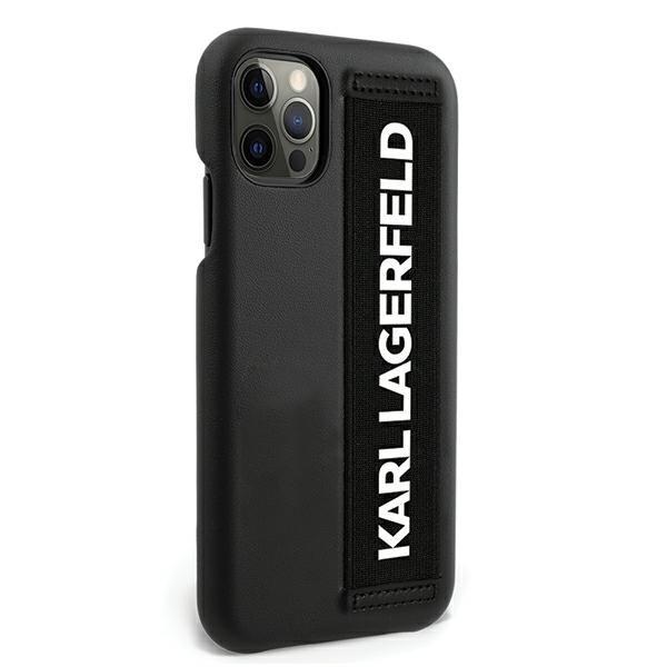 Husa Originala Karl Lagerfeld iPhone 12 Pro Max Model Hand Strap -klhcp12lstklbk imagine itelmobile.ro 2021