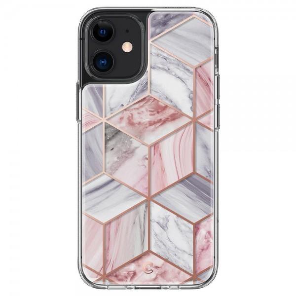 Husa Premium Spigen Cyrill Cecile Pentru iPhone 12 Mini, Marble Roz imagine itelmobile.ro 2021