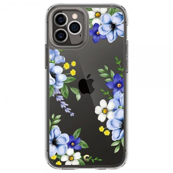 Husa Premium Spigen Cyrill Cecile Pentru iPhone 12 Pro Max, Midnight Bloom imagine itelmobile.ro 2021