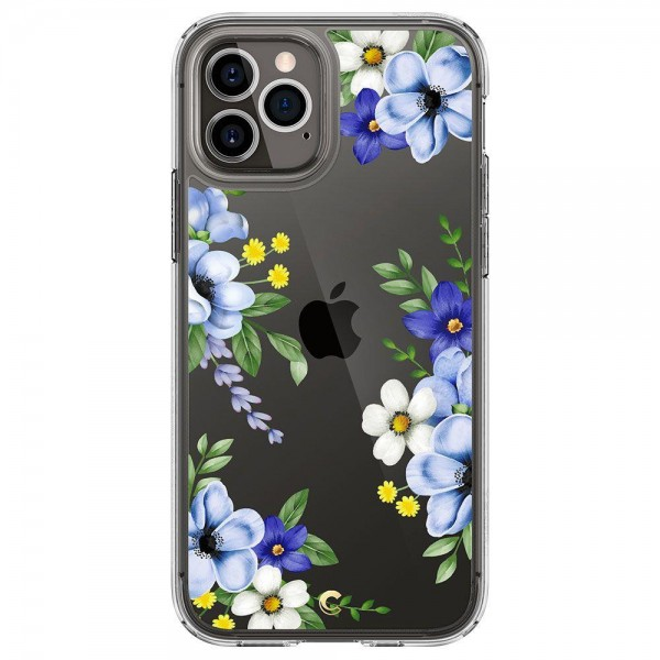Husa Premium Spigen Cyrill Cecile Pentru iPhone 12 / 12 Pro, Midnight Bloom imagine itelmobile.ro 2021