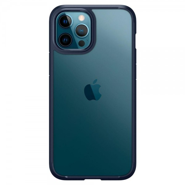Husa Premium Spigen Ultra Hybrid iPhone 12 / 12 Pro, Navy Blue imagine itelmobile.ro 2021