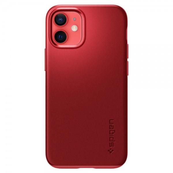 Husa Premium Originala Spigen Thin Fit iPhone 12 Mini, Rosu imagine itelmobile.ro 2021