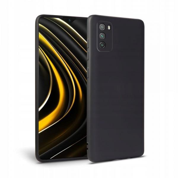 Husa Premium Upzz Liquid Silicon Pentru Xiaomi Poco M3, Cu Invelis Alcantara La Interior, Negru imagine itelmobile.ro 2021