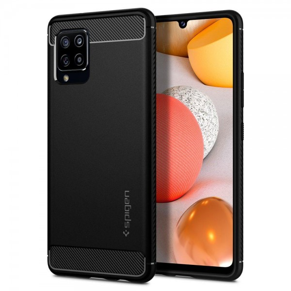 Husa Premium Spigen Rugged Armor Samsung Galaxy A42 5g, Negru imagine itelmobile.ro 2021