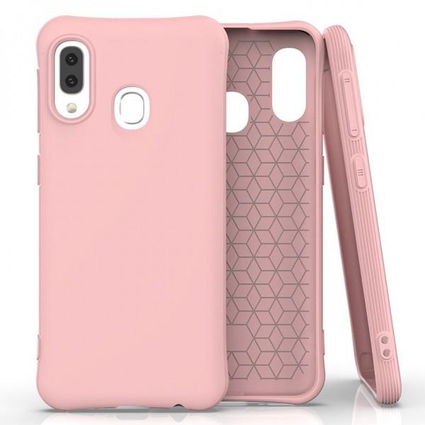 Husa Spate Silicon Soft Upzz Compatibila Cu Samsung Galaxy A20e, Roz imagine itelmobile.ro 2021