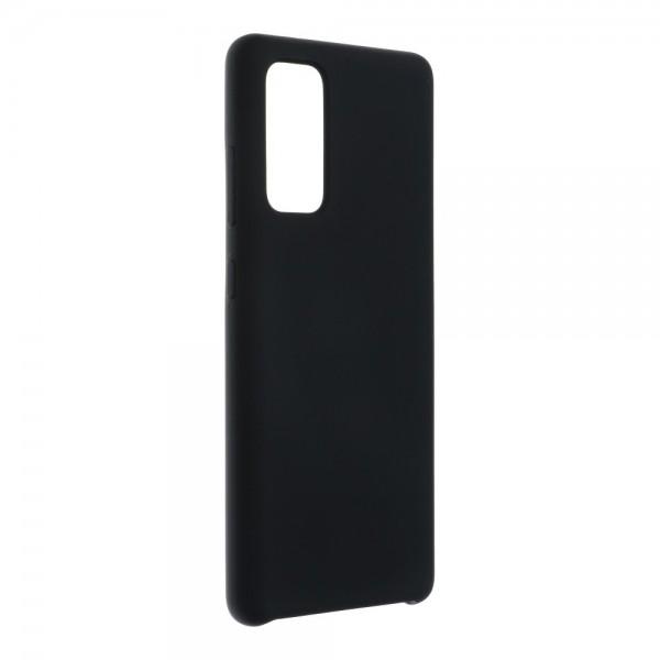 Husa Spate Forcell Silicone Pentru Samsung Galaxy S20 Fe, Alcantara La Interior - Negru imagine itelmobile.ro 2021
