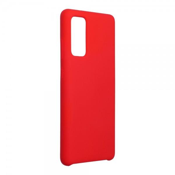 Husa Spate Forcell Silicone Pentru Samsung Galaxy S20 Fe, Alcantara La Interior - Rosu imagine itelmobile.ro 2021
