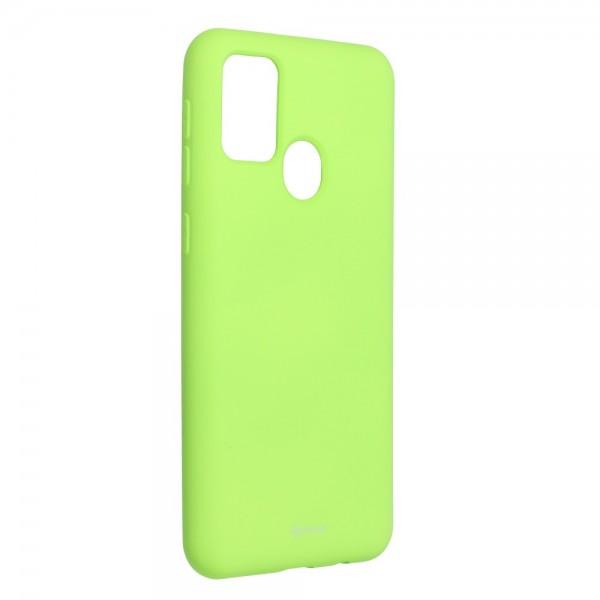 Husa Spate Silicon Roar Jelly Samsung Galaxy M21 - Verde Lime imagine itelmobile.ro 2021